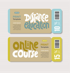 Distance education phrases vector