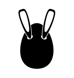 Easter bunny ears in egg pictogram vector