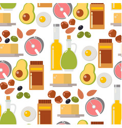 Everyday food common goods organic products vector