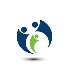 family teamwork logo vector image