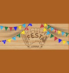 Festa juninabrazilianlatin american festive event vector