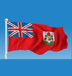 Flag of bermuda vector