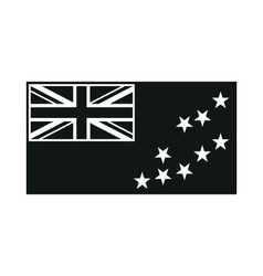 Flag of Tuvalu monochrome on white background vector image