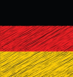 Flat Hand Draw Sketch Flag of German vector image