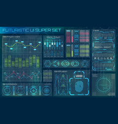 futuristic user interface hud infographic vector image