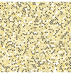 Gold Disco lights background Round golden vector