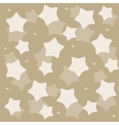 Golden yellow stars over blue background vector
