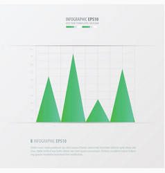 Graph and infographic design green color vector
