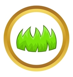 Green grass icon vector