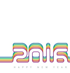 Happy new year 2016 Colorful Creative greeting vector image