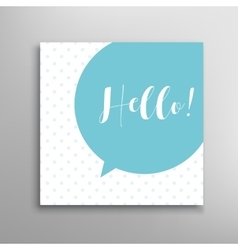Hello phrase lettering vector