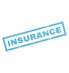 Insurance Rubber Stamp vector
