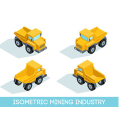 isometric mining industry vector image