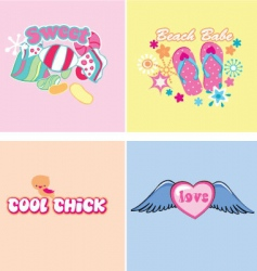kids graphics vector image