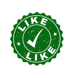 like grunge stamp with tick vector image