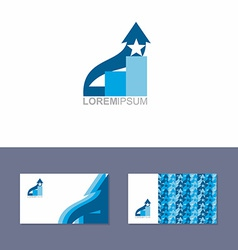Logo Icon design element with business card vector image