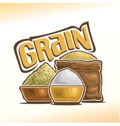 logo of grain vector image