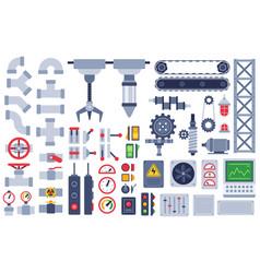Machine parts auto technical mechanisms gear vector