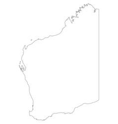 Map of western australia vector