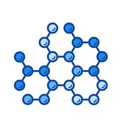 molecular structure line icon vector image