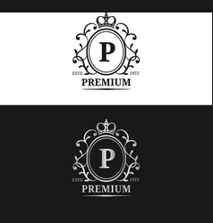 monogram logo templateluxury letter design vector image