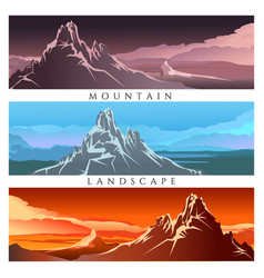 mountain landscape set vector image