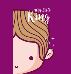 my little king card vector image
