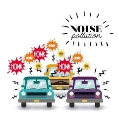 Noise pollution design vector