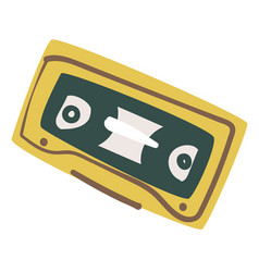 old audio cassette recording 90s music tape vector image