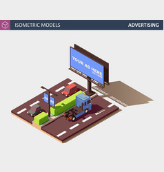 outdoor advertising concept with billboard vector image
