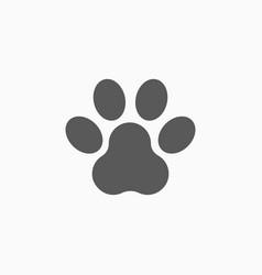 Paw print icon vector