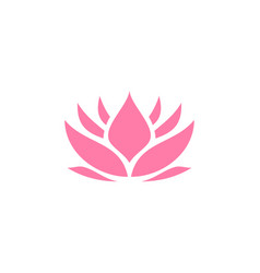 Pink lotus icon design template isolated vector