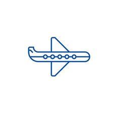 plane line icon concept plane flat symbol vector image