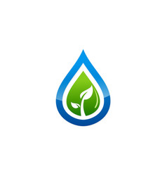 plant leaf waterdop bio ecology environment logo vector image