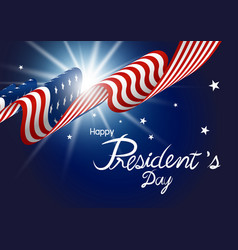 presidents day design of american flag with light vector image