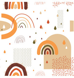 rainbow pattern seamless childish texture vector image