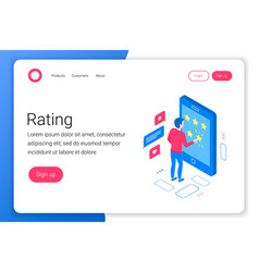 rating isometric concept vector image
