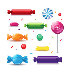 Realistic colorful candies vector