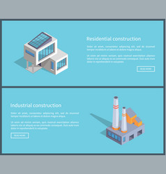 residential and industrial set vector image