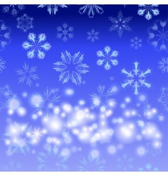 seamless with snowflakes vector image