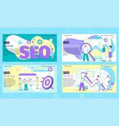 Seo internet banner for business web site vector