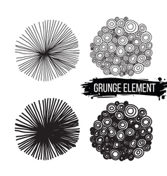 Set of abstract elements Isolated background vector image