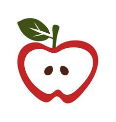 Simple apple icon vector