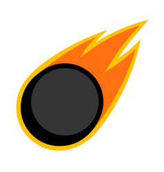 sport ball fire ice hockey vector image