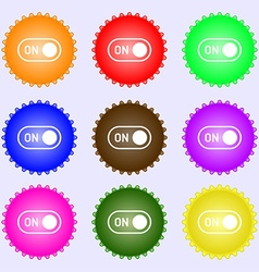 Start icon sign big set of colorful diverse vector