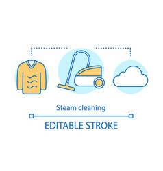 Steam cleaning concept icon vector