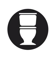 Toilet sanitation porcelain plumbing equipment vector