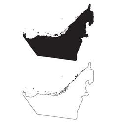 United arab emirates uae emirates country map vector