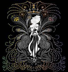 vintage woman floral vector image vector image