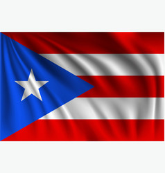 Waving puerto rico vector